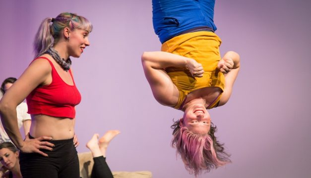 Lee Thompson and Lauren Rile Smith of Tangle Movement Arts. Photo by Michael Ermilio