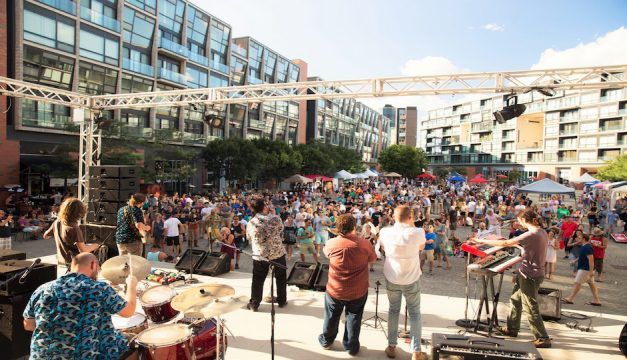 The Piazza is throwing a party this weekend.