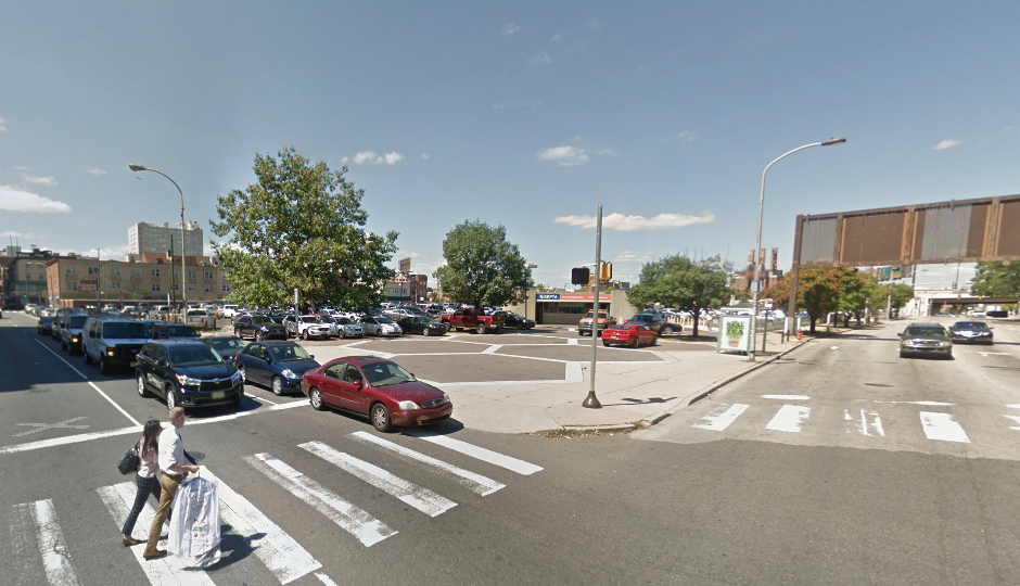 The lot on the northwest corner of 8th and Race is currently used for parking | Image from Google