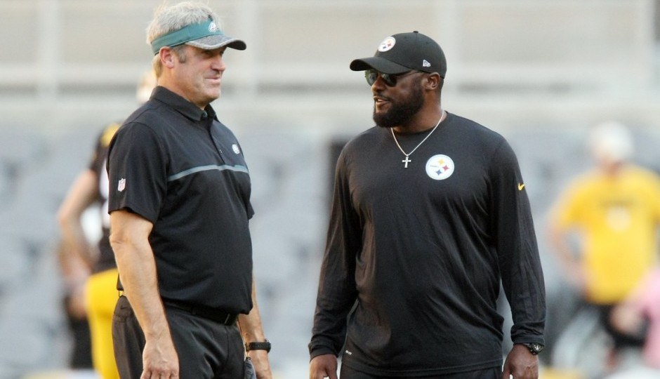 Doug Pederson and Mike Tomlin. (USA Today Sports)