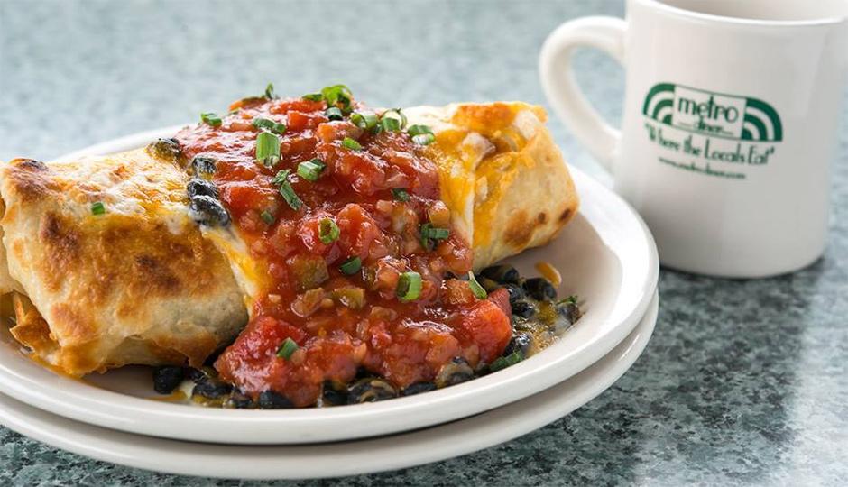 Breakfast burrito at Metro Diner