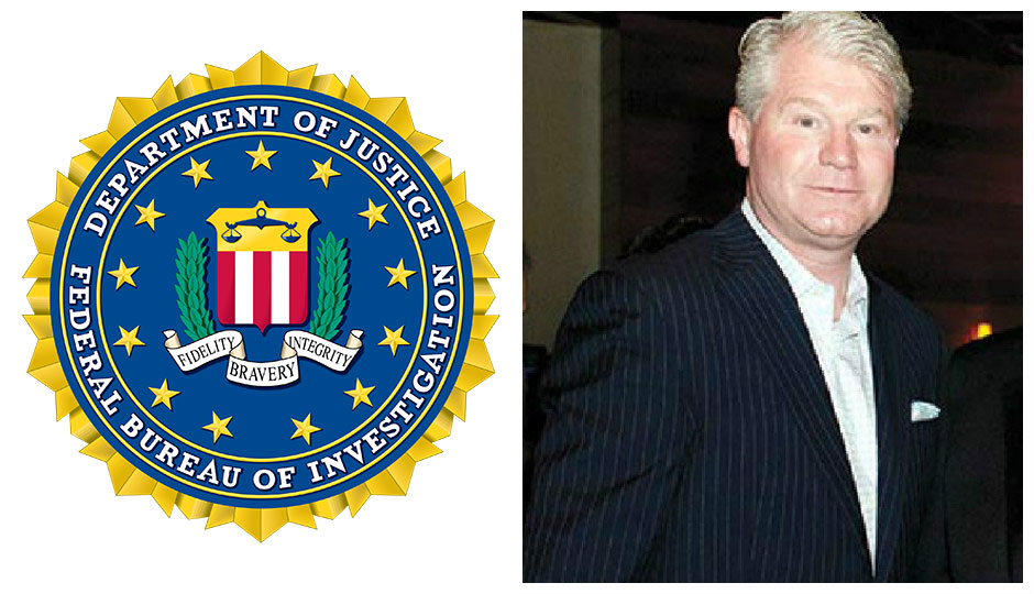 FBI logo / John Dougherty split photo