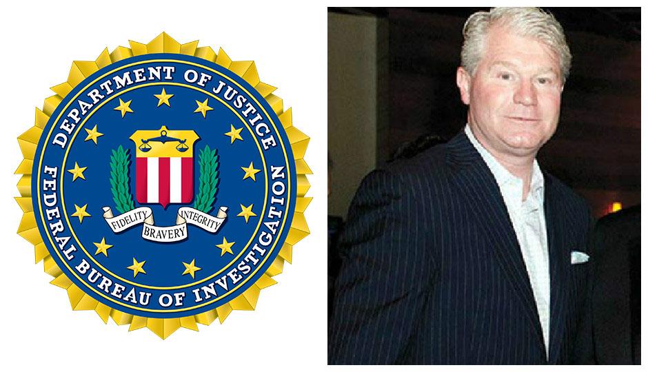 FBI logo / John Dougherty split photo