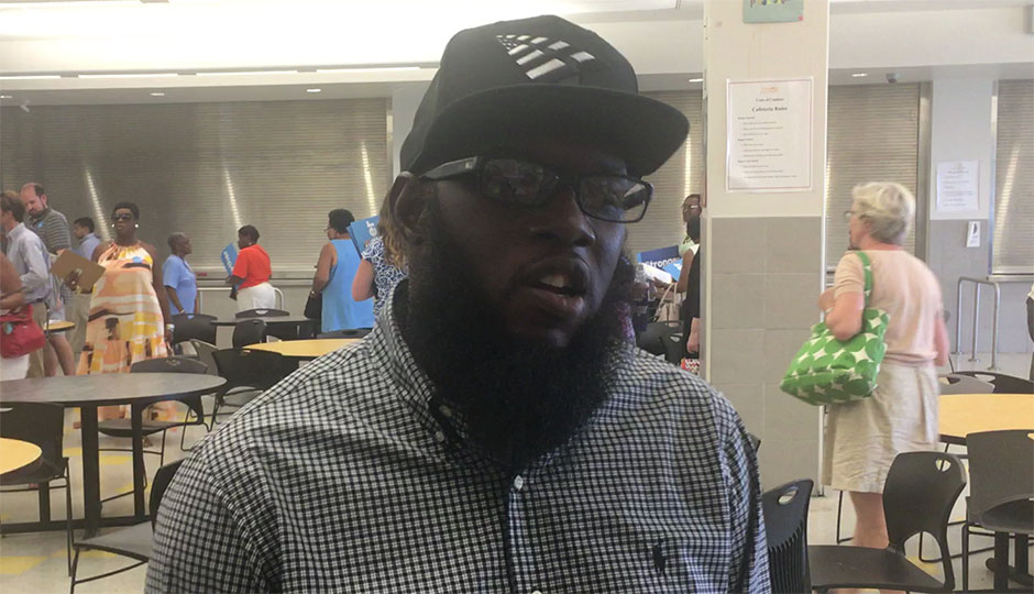 Freeway at West Philadelphia High School, speaking about Hillary Clinton