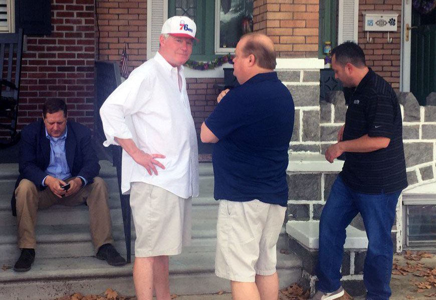 Johnny Doc outside his house in South Philadelphia