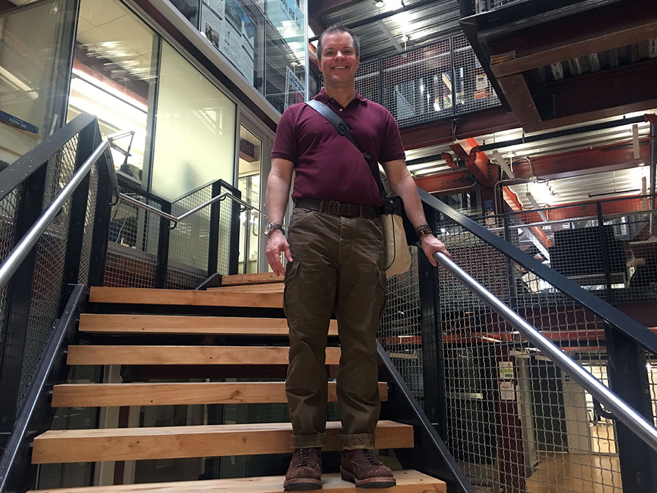 Joseph Hancock - Drexel professor wearing cargo pants