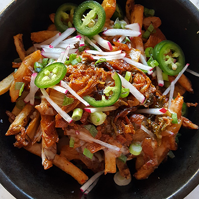 The kimchi fries at Bop   Photo by Laurie Satran