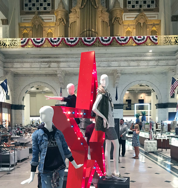 Macy's Center City - mannequins in the Wanamaker building