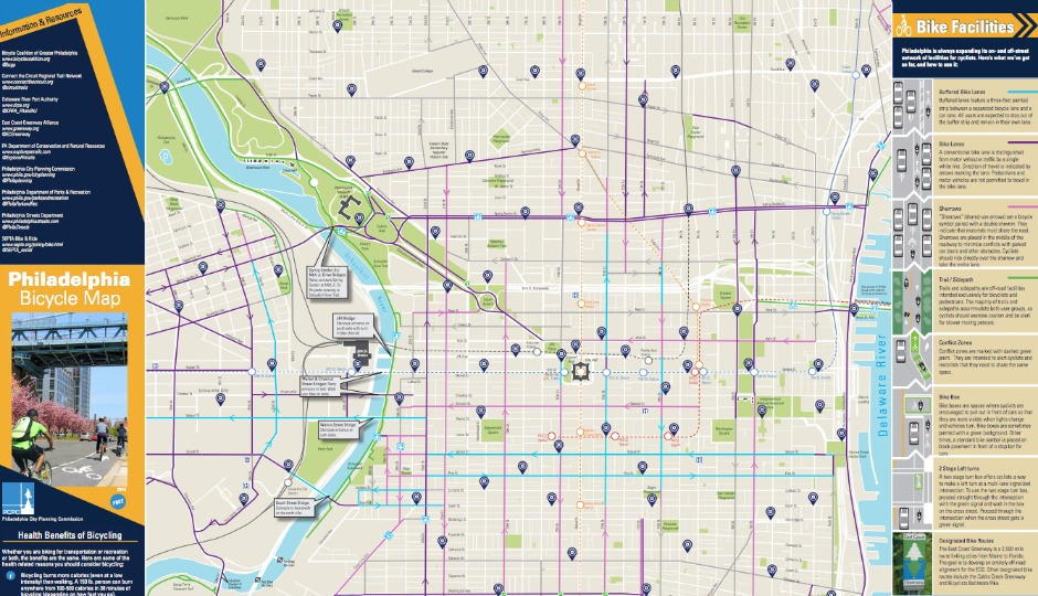 Philly Bike Map from the City Planning Commission