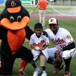 Zion Harvey, after throwing out the first pitch at an Orioles game