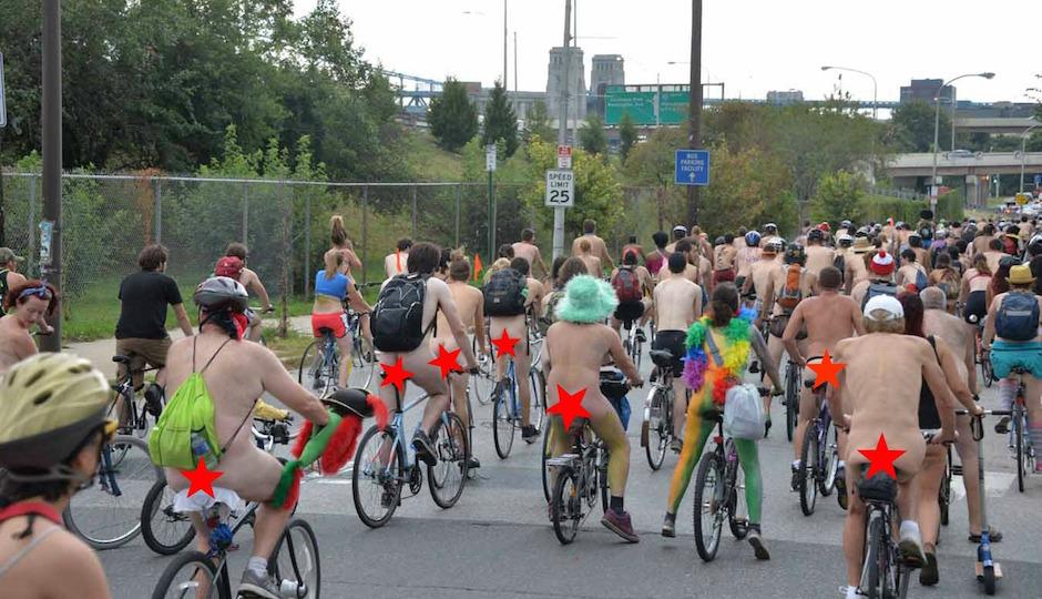 Philadelphia naked bike ride question interesting