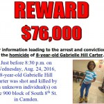 Gabrielle Hill Carter was shot in Camden last week.