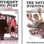 Saturday Evening Post covers, public domain.