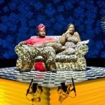 Owen Metsileng is Macbeth and Nobulumko Mngxekeza is Lady Macbeth in Third World Bunfight's Macbeth. Photo by Nicky Newman