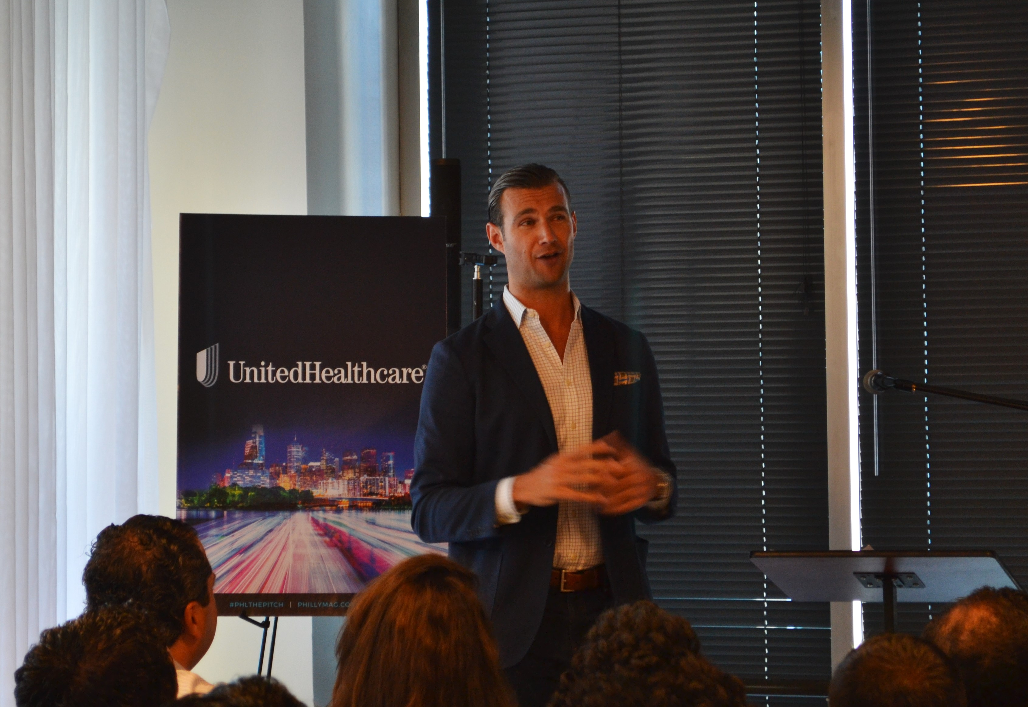 Nick Bayer tells the audience about his experience as an entrepreneur in Philly.