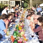 "Les Dames d'Escoffier's inaugural ""Outstanding in her Field"" dinner honoring chef Esther McManus at the Inn at Grace Winery."