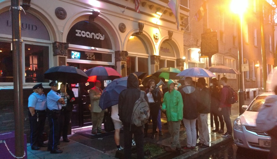 Protest outside ICandy nightclub on September 29th. Photo by Ernest Owens.