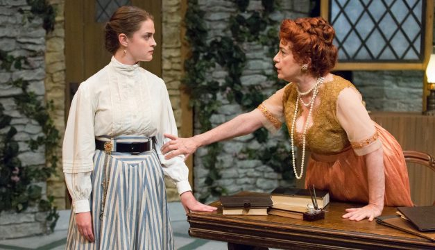 Claire Inie-Richards and Mary Martello in Mrs. Warren's Profession at Lantern Theater. (Photo by Mark Garvin)