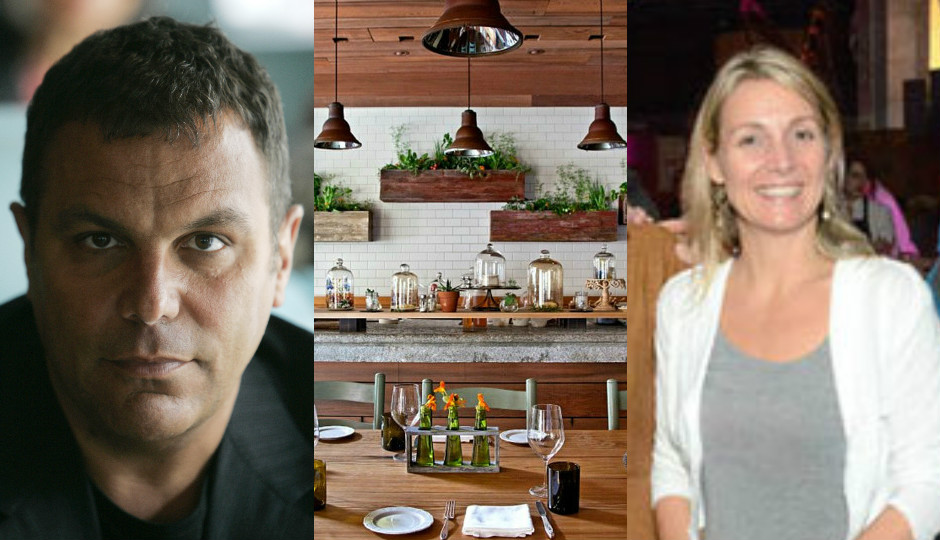 L: Stephen Starr (Photo by Jacqueline Larma/AP) R: The interior of Talula's Garden (Photo via Starr Restaurants)