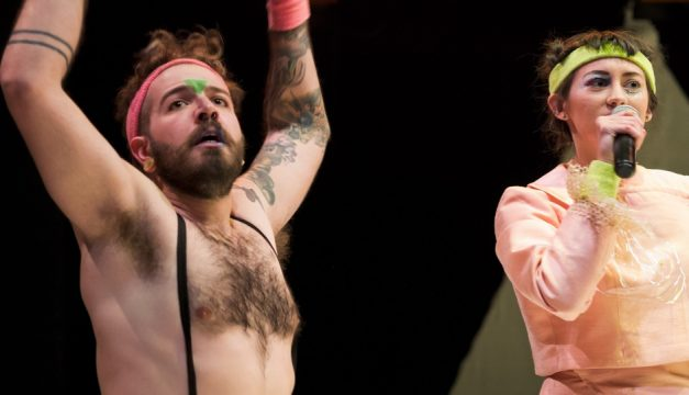 Zach Trebino and Jenni Messner in Story of My Eye. Photo by Barry Kirsch