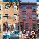 Residents of N. Cadwallader Street in the South Kensington neighborhood of Philadelphia pose for Philly Block Project artists Hank Willis Thomas and Wyatt Gallery in June, 2016.