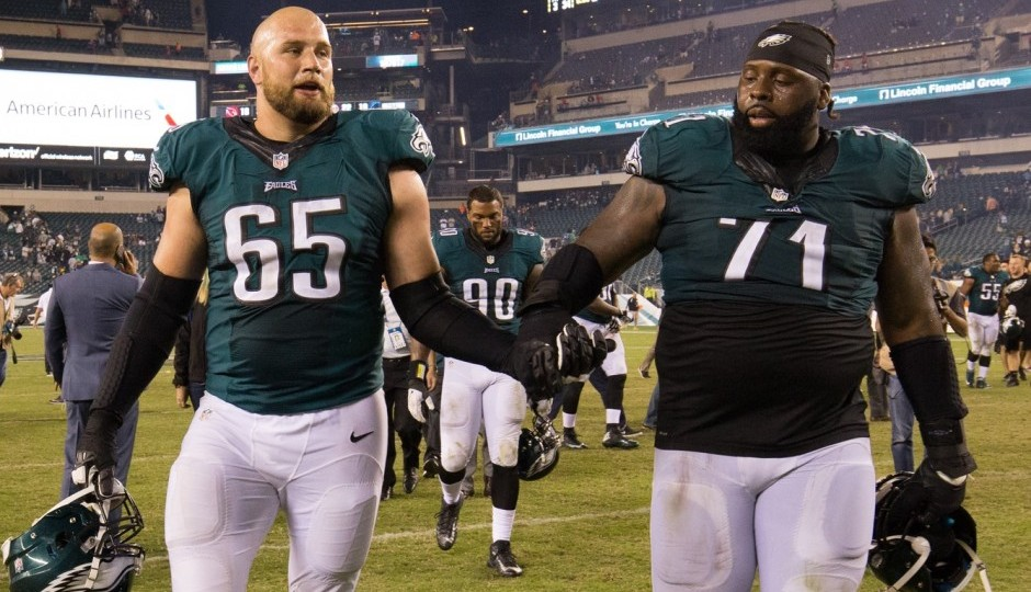 Lane Johnson and Jason Peters. (USA Today Sports)