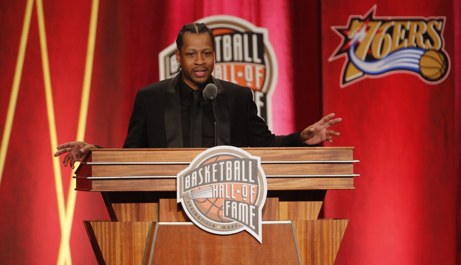 Allen Iverson was enshrined in the Naismith Basketball Hall of Fame this week | David Butler II-USA TODAY Sports