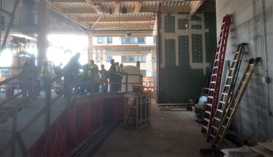 The restaurant space during a recent hard hat tour of the tower | Photo by Sandy Smith