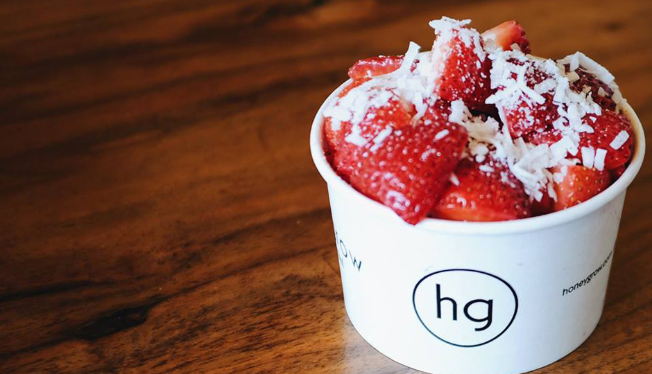 Frozen yogurt at Honeygrow | Photo via Facebook