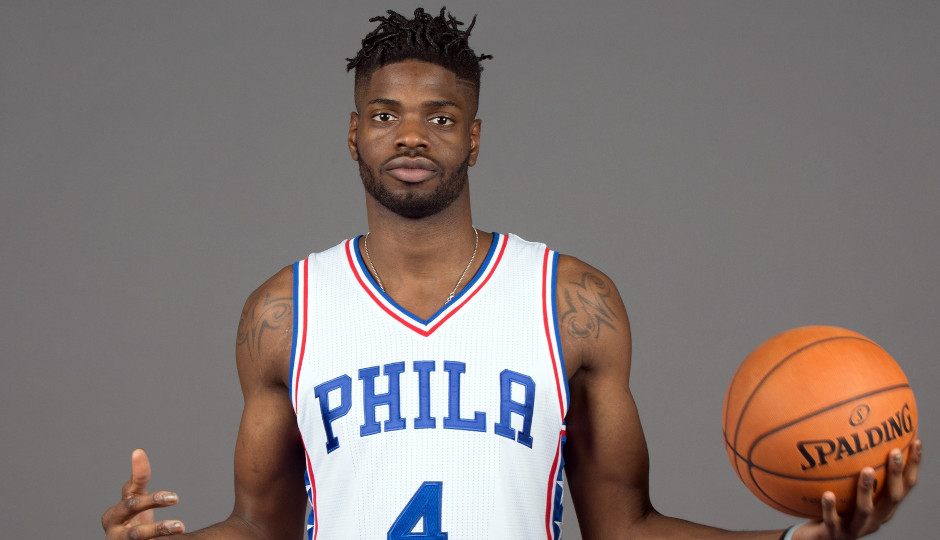 Sixers center Nerlens Noel has expressed frustration over the team's frontcourt jogjam | Bill Streicher-USA TODAY Sports