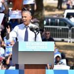 Barack Obama at Eakins Oval