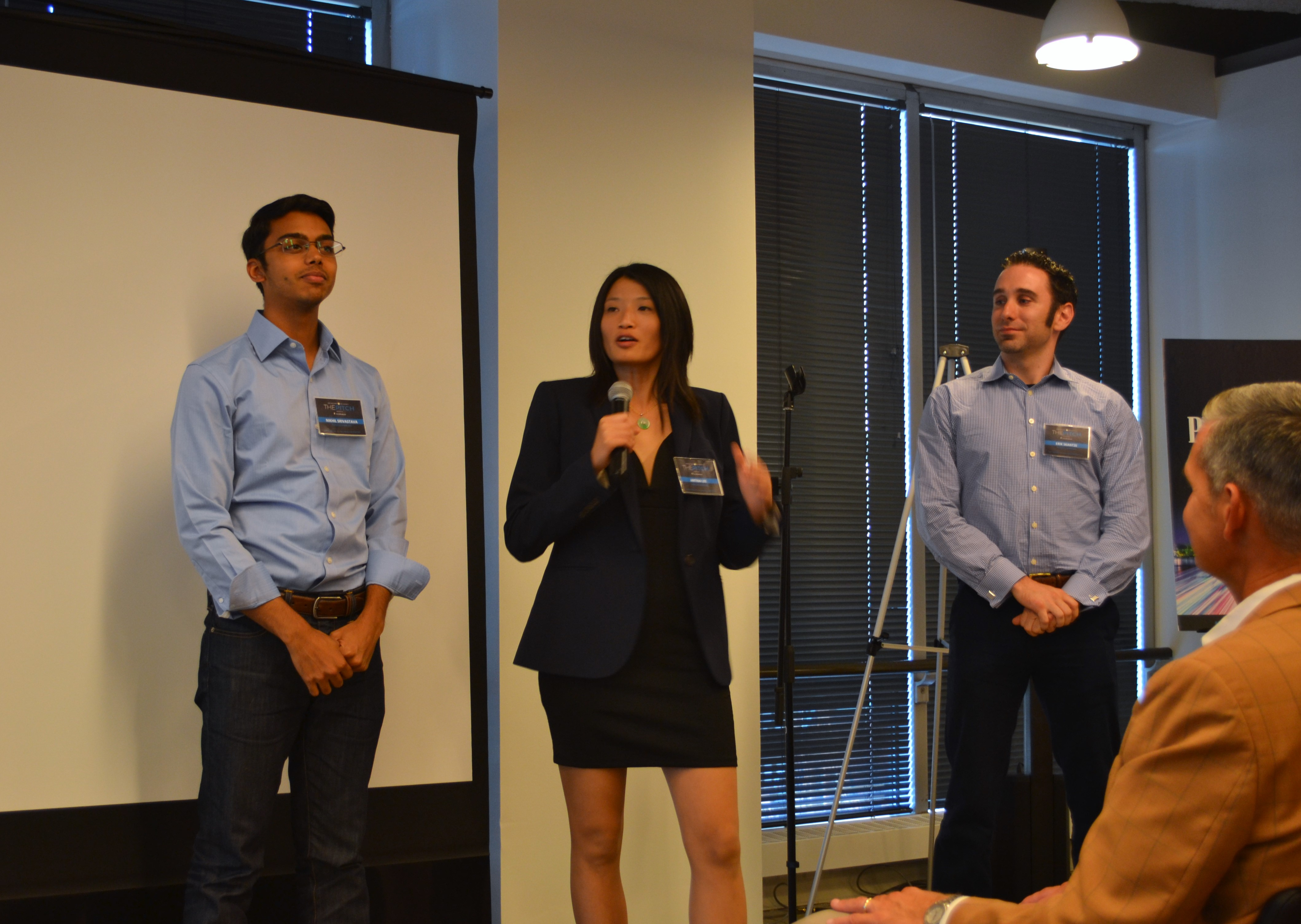 The Perseus Mirrors team tells the audience about their revolutionary smart mirror.