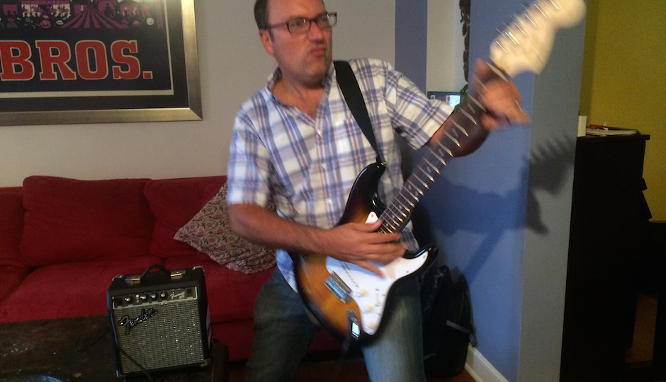 The author doing his best to rock out.