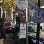 Philadelphia Parking Authority kiosk in Center City on 9th Street