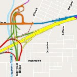 A map of reconstruction projects on and near I-95. Source: 95revive.com