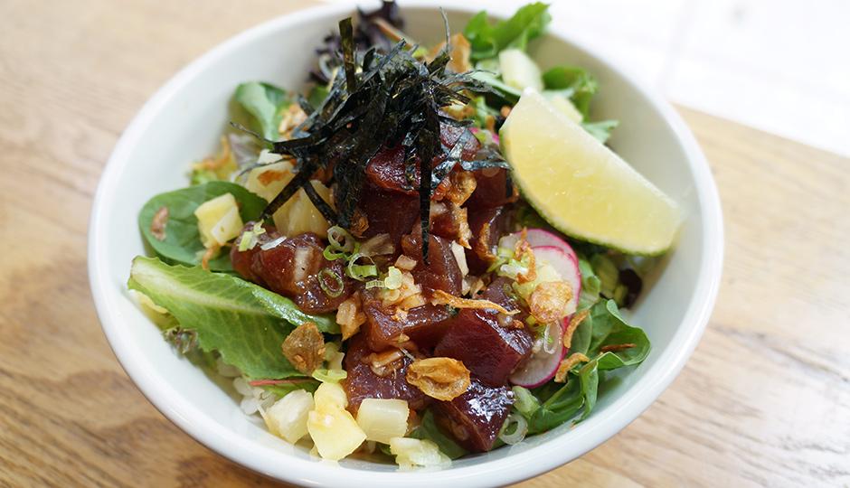 The tuna poke at Hai Street Kitchen