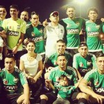 The Mexican Philadelphia Unity Cup team after its opening-night victory against the Vietnamese team. Photograph by Carlos Rojas
