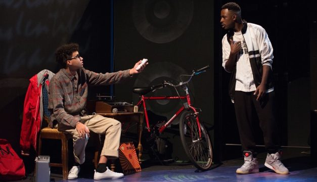 Jerrik Medrano and James Whitfield in How We Got On. (Photo by Johanna Austen)