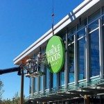 Whole Foods sign going up at new Wynnewood store | Photo via Instagram