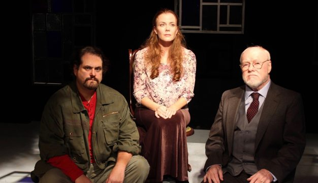 Ethan Lipkin, Kirsten Quinn, and Michael Toner in Molly Sweeney at Irish Heritage Theatre. (Photo by Carlos Forbes)