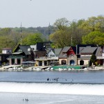Boathouse Row in the daytime on the Schuylkill River