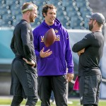 Carson Wentz, Sam Bradford, and Chase Daniel. (Jeff Fusco)