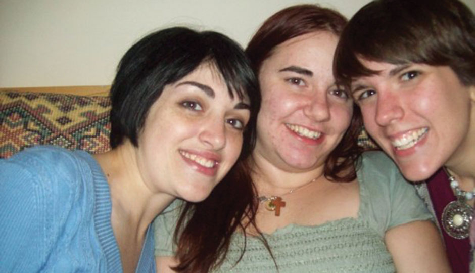Lindsay McAdam, Caitlan Coleman and Meghan Rogers in 2008 | Photo courtesy of family and friends