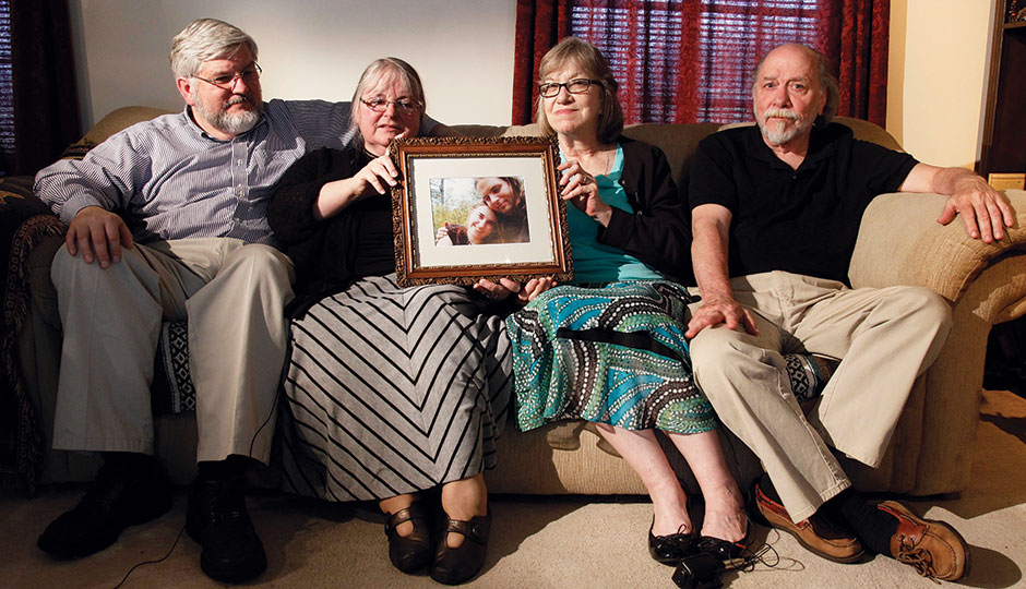 From left, the parents of Joshua and Caitlan in a 2014 Associated Press photo | Photograph by Bill Gorman/Associated Press