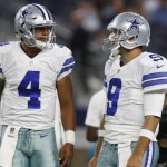 Dak Prescott and Tony Romo. (USA Today Sports)