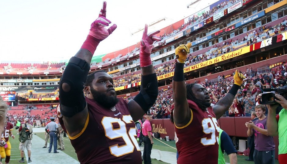 Chris Baker and Ricky Jean Francois. (USA TODAY Sports)