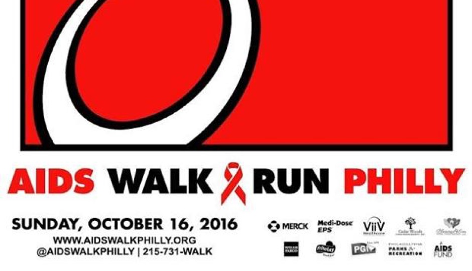 30th AIDS Walk/Run Philly is on October 16th.