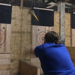 Still from an axe-throwing Boomerang