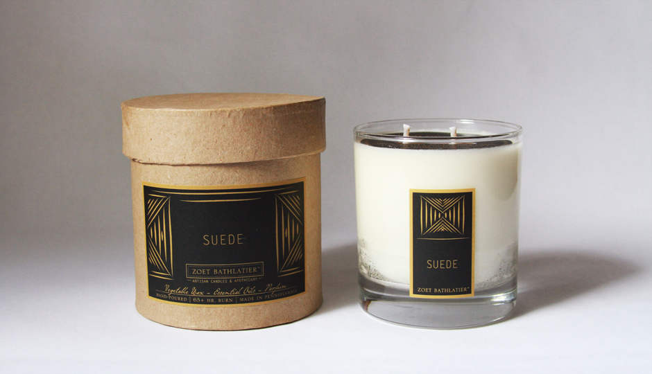 Suede Candles | Photo courtesy Zoet