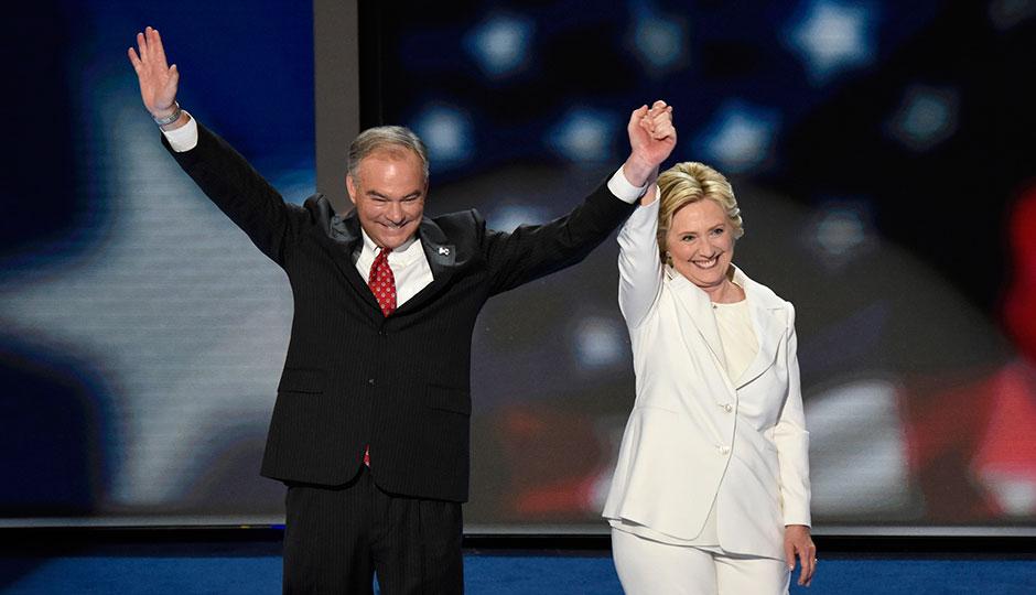 Tim Kaine; Hillary Clinton
